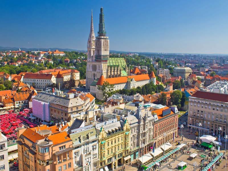 grupo single visitando Zagreb