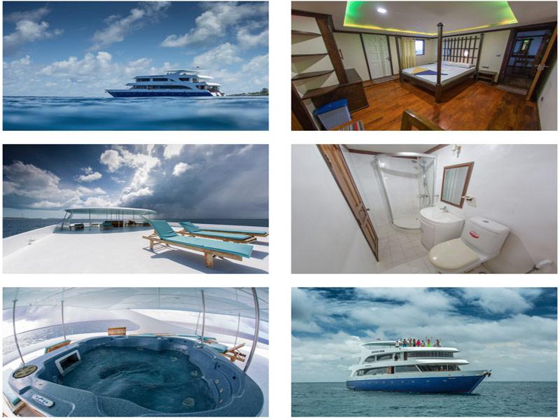 Nuestro Barco en Maldivas en busca de las mejores Olas.