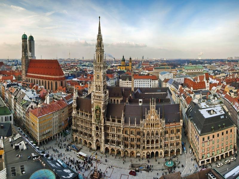Visitando Munich en grupo de Singles