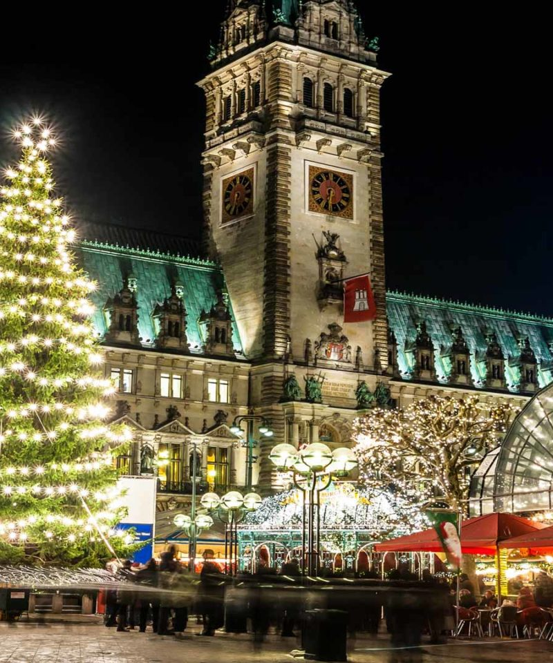 Plaza de Hamburgo en Navidad