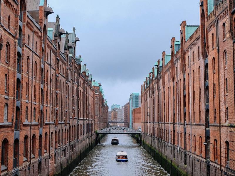 viaje Singles por los canales de Hamburgo