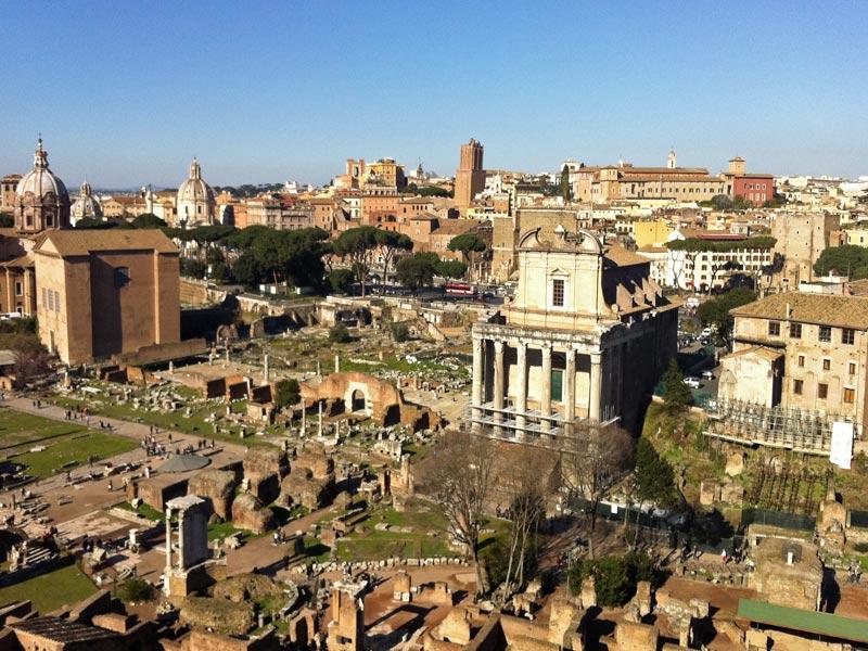 De vacaciones singles en Monte Palatino de Roma