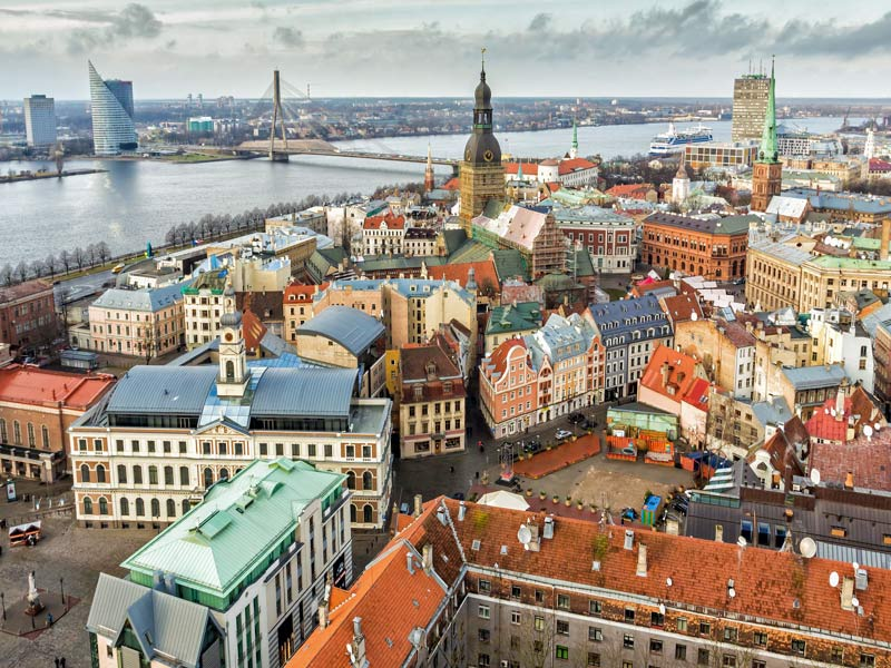Visitando Riga de Letonia con mis singles