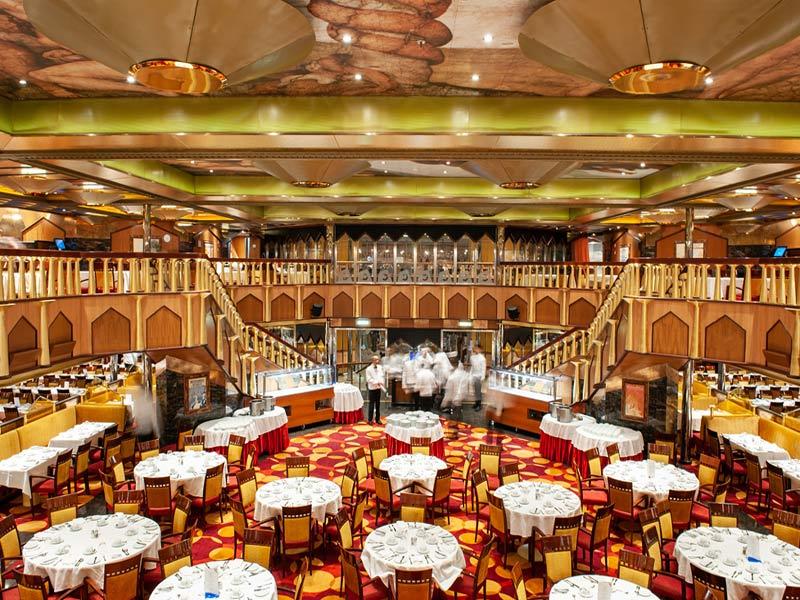 Crucero Costa Mediterraneo- restaurante