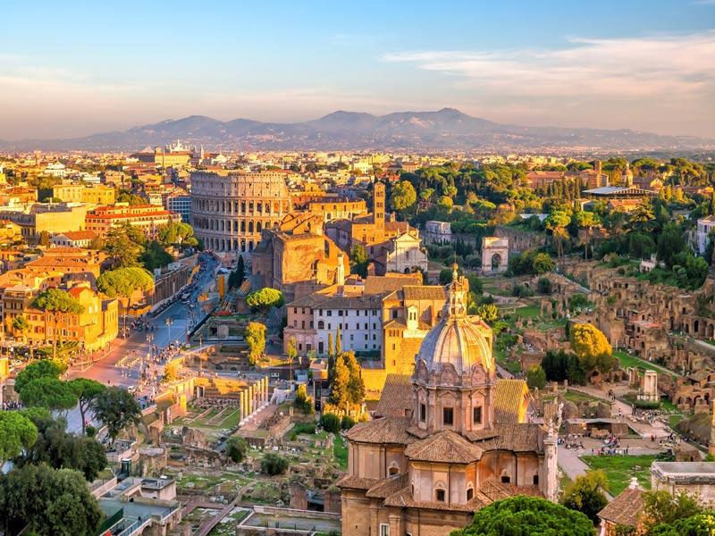 Grupo de Solteros de visitando en Roma