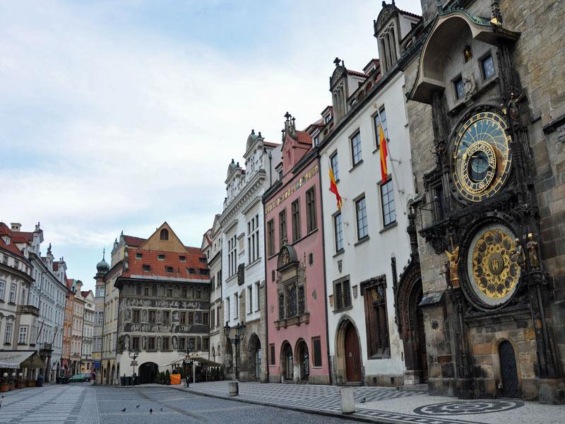 Imagen del reloj astronómico de Praga