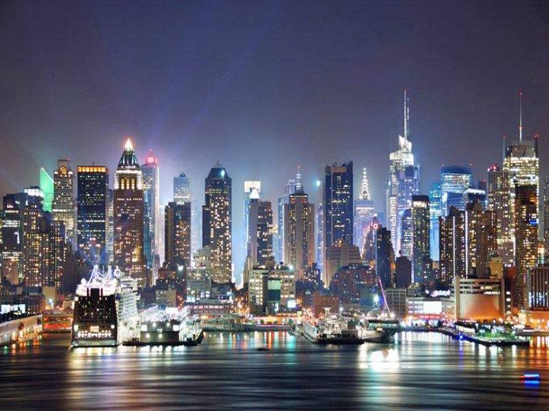 Disfrutando la noche de New York - Manhattan