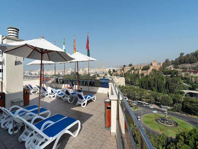 Malaga-Vista-Terraza-Hotel-Maestranza