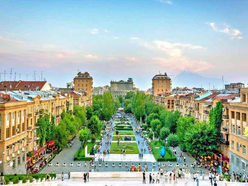 Visitando Ereván, capital de Armenia.