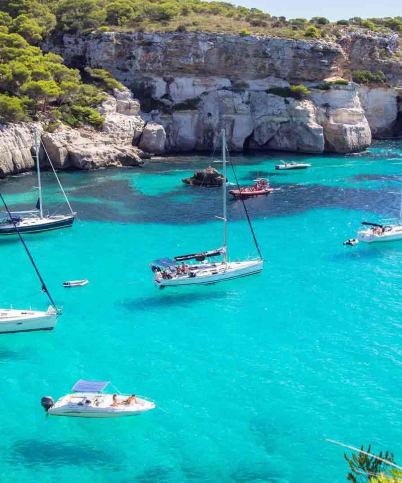 Calas de Menorca embarque en Mahón